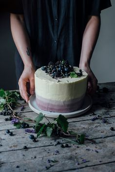 Our Food Stories // glutenfree lavender cake topped with berries for eat-a-rainbow. gluten free, gluten free recipes, gluten free food
