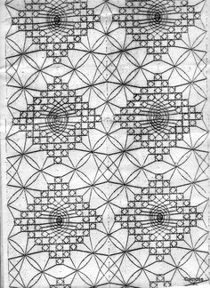 Risultati immagini per chal de bolillos patrones Bobbin Lace Patterns, Crochet Patterns, Hobbies And Crafts, Diy And Crafts, Lace Art, Lace Outfit, Lace Border, Lace Making, Album