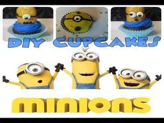 DIY MINIONS Despicable Me Cupcakes!! - Sharron's Take