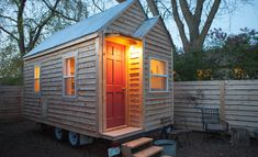 This one 128 foot structure is a tiny garden house.Located in Nebraska, this transportable home, has a full kitchen,full bathroom, and eco-friendly systems.