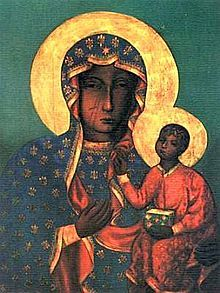 The Black Madonna of Częstochowa, also known as Our Lady of Częstochowa, is a revered icon of the Virgin Mary housed at the Jasna Góra Monastery in Częstochowa, Poland. Blessed Mother Mary, Blessed Virgin Mary, Religious Icons, Religious Art, Luke The Evangelist, Our Lady Of Czestochowa, La Madone, Black Art Painting, Black Jesus