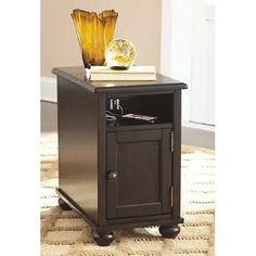 Signature Design By Ashley - Barilanni Chairside End Table With Usb Ports & Outlets Cubby Storage, Hidden Storage, Furniture Mall Of Kansas, Regency Furniture, Low Cabinet, End Tables With Storage, Engineered Wood, Table And Chairs, Living Room Furniture
