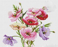 Kanaviçe Çiçekli Yastık Örnekleri (1)