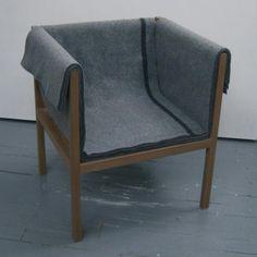 Blanket Chair Design: Heidi Earnshaw Client: Date: 2012 Winter Blankets, Make Design, Tub Chair, Chair Design, Accent Chairs, Interior, Furniture, Felt, Military
