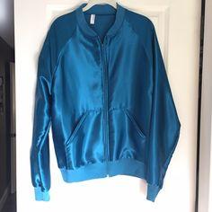 American Apparel Satin Jacket 70s inspired satin charmeuse night jacket. American Apparel Jackets & Coats