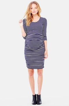 Ingrid & Isabel® Ingrid & Isabel Shirred Maternity Dress available at #Nordstrom