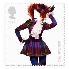 The Great British Fashion Stamp Set, launched by The Royal Mail which honors 10 top fashion houses including amazing Alexander McQueen, Paul Smith & Vivienne Westwood. Great British, British Style, British Fashion, Uk Fashion, High Fashion, Tartan Fashion, British Summer, Unisex Fashion, Fashion History