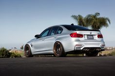 Silver BMW M3 with HRE Classic 300 in Satin Black (1)