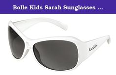 Bolle Kids Sarah Sunglasses (Shiny White, TNS). This sassy sunglasses makes a bold statement with its big lenses and full frame. Sarah's curves and contours bring a big dose of Jackie O flair in a size that's perfect for 9 to 12 year olds, even if your child is too young to know what former first lady's style they're channeling. Bolle Kids Sarah Sunglasses fit children 9-12 years old. These Bolle sunglasses feature thermogrip rubber temples and nose pads with moisture-absorbing properties...