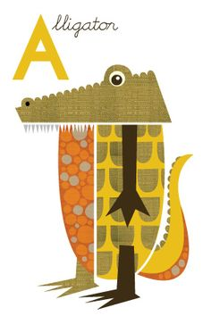 Alligator print | For sale on my Etsy page | Jenn Ski | Flickr