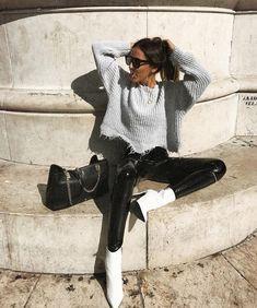 vinyl pants + sweater @dcbarroso