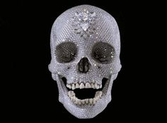 Damien Hirst Skull, with real diamonds and human teeth