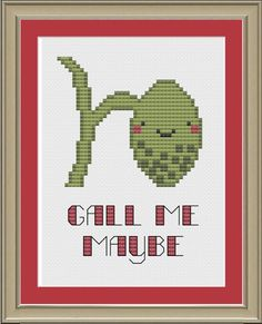 Gall me maybe: funny gallbladder anatomy cross-stitch pattern via Etsy