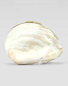 Sirene Shell Minaudiere, White by Rafe at Neiman Marcus.