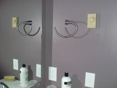 Mistos towel ring in person.  Excuse the thermostat, I need to paint it white, smh.