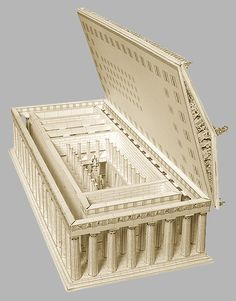 The Parthenon / Paper Model by Paperlandmarks- you can purchase this product and build your own Parthenon. This model gives us a good idea of what the structural components of the Parthenon appeared like in ancient times. Ancient Greek Architecture, Classical Architecture, Historical Architecture, In Ancient Times, Ancient Rome, Ancient Greece, Greek History, Art History, Greek Parthenon