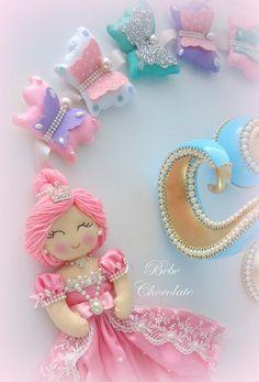 keçe prenses kelebekli perde süsü