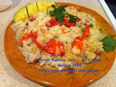 Risotto de langosta. Boricua Style!!! Yo le hecho adobo y sofrito a mis comidas.,♥LP-MRS♥ Lobster Risotto made by Me!