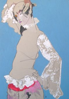 Stinsensqueeze is raising funds for WITHIN – Howard Tangye on Kickstarter! A book revealing the unseen work of Howard Tangye – the influential Saint Martins tutor to generations of famous fashion designers. Weird Drawings, Art Drawings, Art And Illustration, John Galliano, Fashion Sketches, Fashion Illustrations, Art Sketchbook, Les Oeuvres, Fashion Art