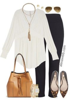 Plus Size Business Casual Basics - Plus Size Work Outfit - alexawebb.com #alexawebb