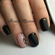 38 Ideas for nails gel black ongles Pink Nail Designs, Nails Design, Dream Nails, New Nail Art, Super Nails, Trendy Nails, Halloween Nails, Toe Nails, Nails Inspiration