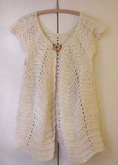 "Cardigan ""Pétales"" Adult By Marjoline Petit - Free Crochet Pattern - (ravelry)"