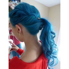 ♛ We Heart Hair♛ ❤ liked on Polyvore featuring hair and blue hair