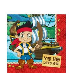 Jake and the Never Land Pirates Lunch Napkins 16ct - Party City