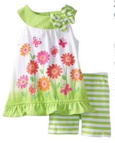 Young Hearts Girls 2-6X 2 Piece Knit Designed Shirt And Short $25.20, get it now at http://ilovebabyclothes.com/?page_id=668