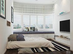 siedzisko w wykuszu / wizualizacja / home.designing.com