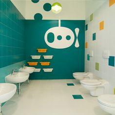 Filip Domaszczynski, xystudio · Kindergarten in Marki Daycare Design, Classroom Design, School Design, Kindergarten Interior, Kindergarten Design, School Bathroom, Bathroom Kids, Toilette Design, Kids Toilet