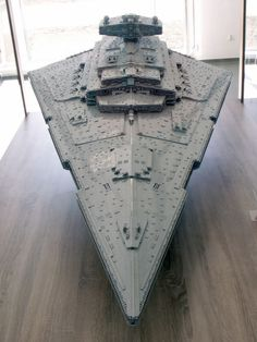 The biggest, most accurate Lego Imperial Star Destroyer ever built - More than 40,000 bricks. 110 pounds (50 kilograms). 6.62 feet long (2.02 meters). 4.1 feet wide (1.25 meters). 1.9 feet tall (58 centimeters). Eight months of design and building.