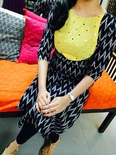 Different types of kurtis designs - Easy Craft Ideas Salwar Designs, Kurta Designs Women, Salwar Pattern, Kurta Patterns, Dress Neck Designs, Blouse Designs, Chudidhar Designs, Ikkat Dresses, Kurta Neck Design