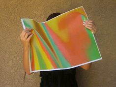 3D Lenticular Fabric Sheet Color-Changing Orange Green Yellow