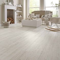 Ideas For Vinyl Wood Floors Light Living Room Wood Floor, Wood Floor Kitchen, Living Room White, Living Room Flooring, Living Room With Fireplace, Living Room Paint, Living Room Kitchen, Living Room Furniture, Living Rooms
