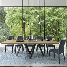 Calligaris Cartesio Wood Table 200