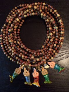 """Women's 30"""" wood with Mexican hand paired mermaid .... for sale"""
