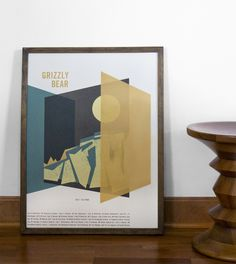 (Grizzly Bear 2012 US Tour Poster, metallic gold ink) flora fauna world Gig Poster, Screen Print Poster, Gold Silk, Metallic Gold, Indie, Tour Posters, Art Inspo, Illustration, Screen Printing