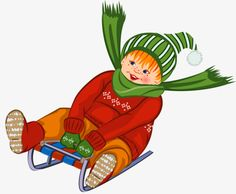 Child sitting on a sled, Scarf, Hat, Ski PNG Image Olympic Crafts, Snow Party, Winter Clipart, Ski, Winter Activities For Kids, Human Drawing, Winter Scenes, Winter Sports, Kids Education