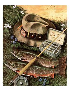 Fishing Still Life by John Atherton