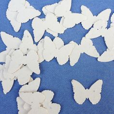 Cream Butterfly Shaped Plantable Seed Paper Confetti