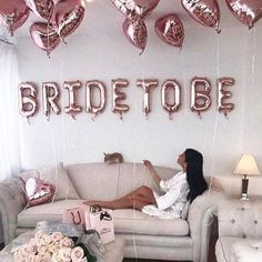 "weddings - Rose Gold ""Bride to be"" Balloon kit for Bridal Shower Wedding Shower Party Decor bachelorette party Bridal Shower Decor Bride To Be Bachelorette Party Decorations, Bridal Shower Decorations, Wedding Decorations, Lingerie Party Decorations, Hotel Bachelorette Party, Bachelorette Party Pictures, Bachelorette Weekend, Table Decorations, Fiesta Shower"