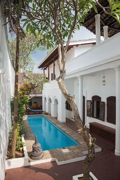 Due to its smart positioning, the plunge pool at Malabar House remains remarkably cool during the day | archdigest.com