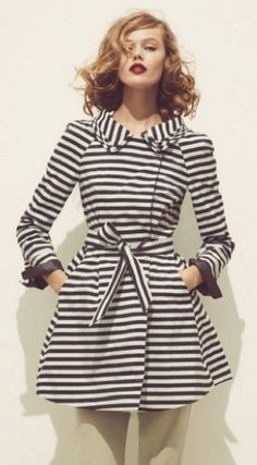 Striped trench ... repinned by Style69er, follow more content at…