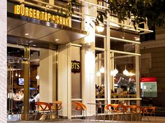 Burger Tap Shake, or BTS, is just steps from the Foggy Bottom Metro and always seems to be hopping!  Delicious burgers and shakes for a reasonable price and fun atmosphere.