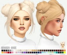 Newsea`s Gaze hair retextured for The Sims 4