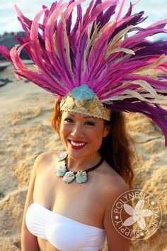 Ready to Ship Tahitian Costume Head Piece Large Size. $80.00, via Etsy.
