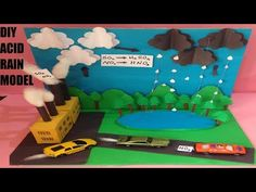 acid rain model for exhibition Science Exhibition Projects, School Exhibition, Physics Projects, School Science Projects, Science Experiments Kids, Science For Kids, Elementary Science, Preschool Science, Science Project Video
