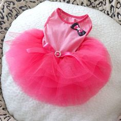 Pink Dog Cat Princess Tutu Dress Bow Bubble Dress Pet Puppy Clothes Dog Apparel Large Clothes for Pets Girl #Affiliate