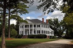"""Matthews-Tait-Rutherford Home, """"Youpon Plantation"""", located near Canton Bend, AL in Wilcox County (antebellum plantation home, construction began in 1840, took five years to complete.) --- For additional details, go to www.ruralswalabama.org/attractions/matthews-tait-rutherford-home-youpon-plantation-1840-1845/."""